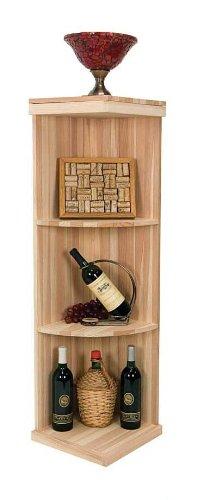 4 Ft. Quarter Round Display Wine Rack (Prime Mahogany - Classic Mahogany Stain) front-615152