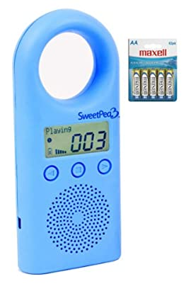 SweetPea3 2 GB MP3 Player for Kids (Blue) With a 10 Pack of Maxell AA Alkaline Batteries for up to 550 hours of Playtime