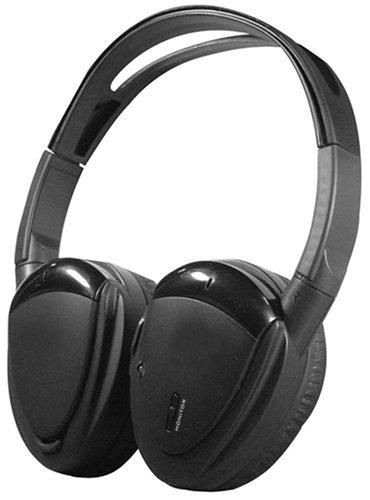 Power Acoustik Hp-900S Swivel Ear Pad 2-Channel Rf 900 Mhz Wireless Headphones
