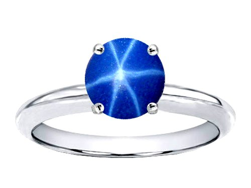 Tommaso Design Created Star Sapphire Solitaire Engagement Ring