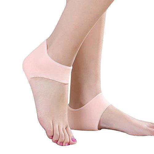 1-pair-gel-silicone-heel-cushion-protective-socks-skin-color-unisex-sleeve-ankle-protection-moisturi