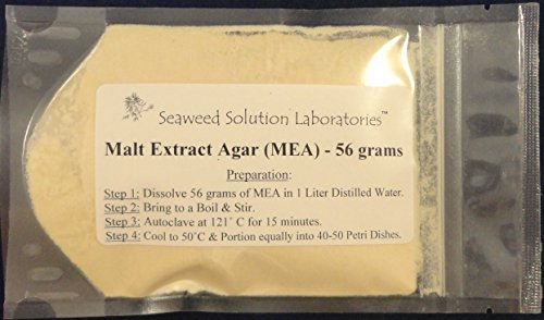 Malt Extract Agar (MEA) 56 grams - Great For Cultivating Mushrooms!