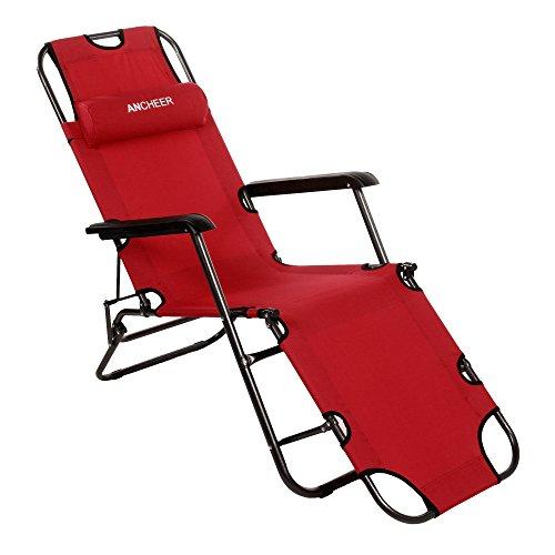 Ancheer-Sonnenliege-Gartenliege-Strandliege-Sitz-Liegepositionen-klappbare-Sonnenliege-Relaxliege-Liegestuhl-Klappliege-Stahl-178-cm