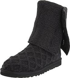 UGG Australia Women\'s Lattice Cardy Boots (Size 7 B(M) US, Black)