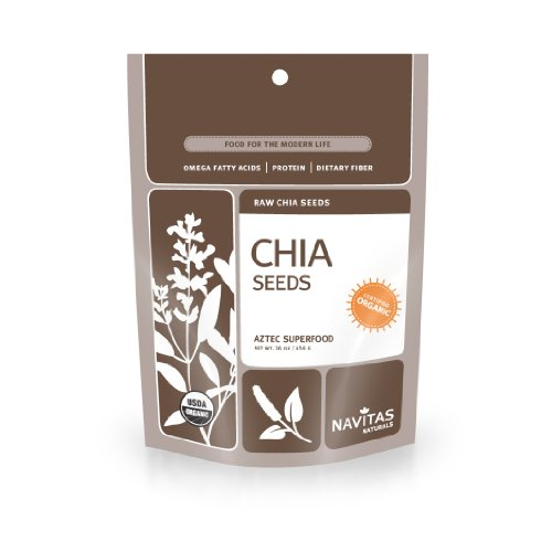 Navitas Naturals Organic Raw Chia Seeds, 16-Ounce Pouches