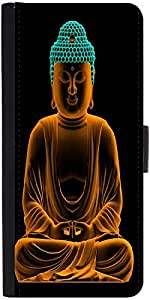 Snoogg Buddha Glowing Peace Designer Protective Flip Case Cover For Samsung G...