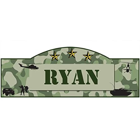 Personalized Military Camo Name Sign Wall Décor Decal