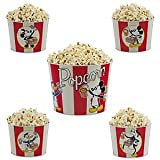 Disney Theme Park Exclusive 5-Pc. Mickey Mouse and Friends Tin Popcorn Bucket Set.