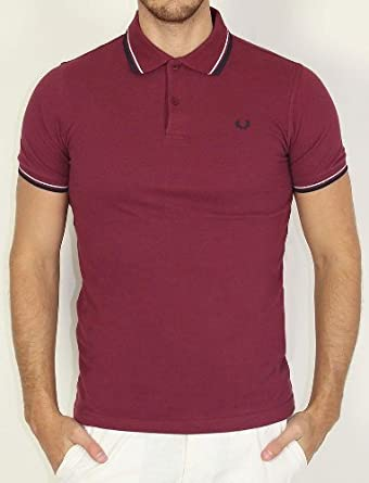 polos fred perry pour mode homme mod le m8299 bordeaux navy polo fred perry manches courtes. Black Bedroom Furniture Sets. Home Design Ideas