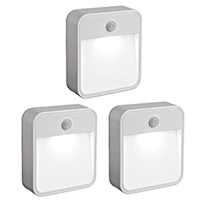 Mr. Beams MB 723 Battery-Powered Motion-Sensing LED Stick-Anywhere Nightlight, 3-Pack