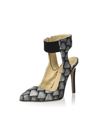 Mambrini Sandalo Con Tacco M19 Sabrina [Argento/Nero]