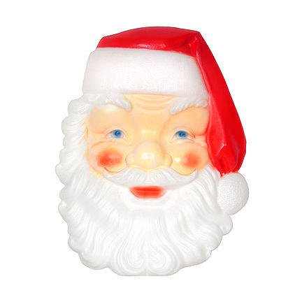 Christmas Large 3 Foot Santa Face Lighted Blow Mold Holiday Decoration