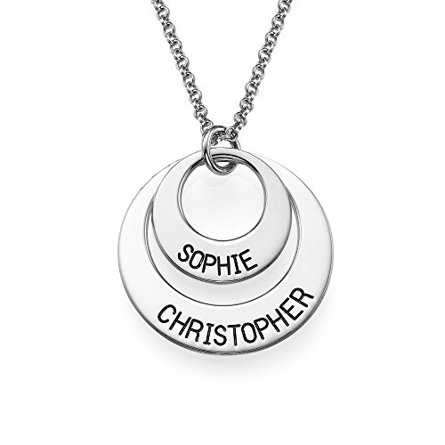 Personalized Disc Necklace - Engraved with Any Name - Perfect Gift ! (18 Inches) (Personalized For Mom compare prices)