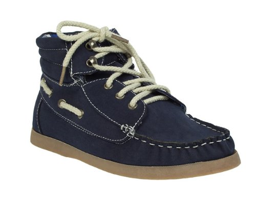Barratts Junior Boys Kids Navy Boat Shoe Ankle Boots