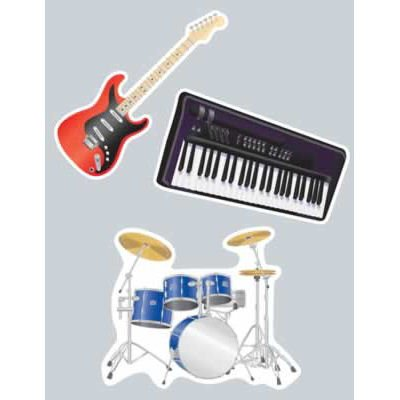 Musical Instrument Cutouts (3/pkg)