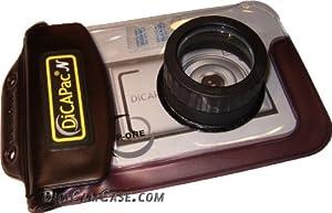 DiCAPac WP-One - Wasserdichte Unterwassertasche für Digitalkameras wie u. A. Canon Ixus 115 310HS, Nikon Coolpix S200, Casio EX-Z700, Samsung ES80, Olympus mju 1020 VG-130 FE 4030, Sony W380
