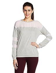 Anaphora Women's Body Blouse Shirt (56954_Grey Melange_L)