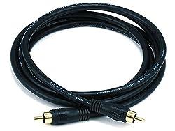 6ft Coaxial Audio/Video RCA Cable M/M RG59U 75ohm (for S/PDIF_ Digital Coax_ Subwoofer & Composite Vide
