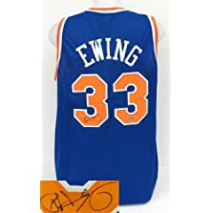 Patrick Ewing New York Knicks Signed Blue Prostyle Custom Jersey Steiner by Sports Integrity