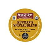 Newman's Own Organics, Special Blend Extra Bold K-Cup Portion Pack for Keurig K-Cup Brewers, 50 count