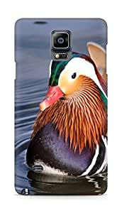 Amez designer printed 3d premium high quality back case cover for Samsung Galaxy Note 4 (Mandarin Duck china water lake)