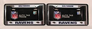 Baltimore Ravens Chrome License Plate Frames - Set of 2 by Rico