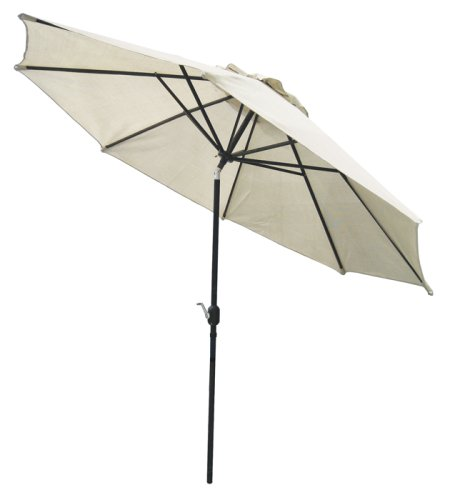 Coolaroo 11 Feet Round Patio Umbrella with 3 Position Tilt-Aluminum Pole, Smoke