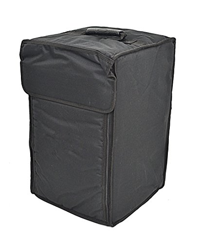 ts-ideen 6109 Cajon Percussion Box Drum Wooden with Snare Effect in Padded Bag Dark Front Face