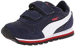 PUMA ST Runner NL V Kids Sneaker (Little Kid/Toddler/Little Kid) , Peacoat/White/High Risk Red, 5 M US Toddler