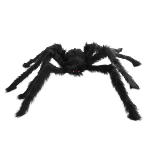 SeasonsTrading Large Hairy Poseable Black Spider ~ Halloween Decoration & Prop