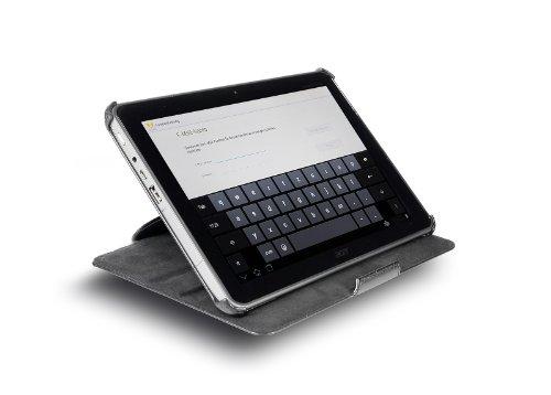 StilGut UltraSlim Case extrem flaches Etui mit Stand- und Präsentationsfunktion für Acer Iconia Tab A510/ A511 und Iconia Tab A700 in schwarz
