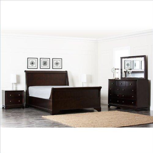 Abbyson Living Capriva Oak Bedroom Set In Dark Truffle front-1064131