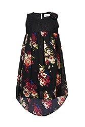 Soul Fairy Girls' Dress (CHRDRSLCE07A_Black_9-10 Years)
