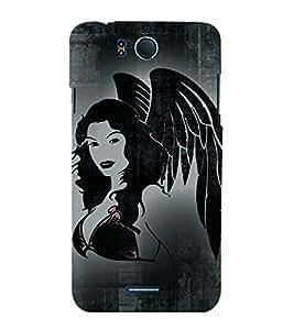 Pari Angel 3D Hard Polycarbonate Designer Back Case Cover for InFocus M530