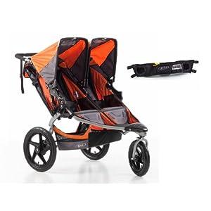 BOB Revolution SE Double Jogging Stroller and Handlebar Console, Orange by BOB