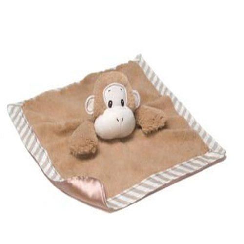 Silly Stripes Monkey Satineesnugs Security Blanket - 1