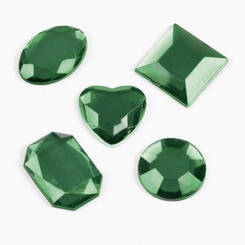 Adhesive Jewels - Green - Art & Craft Supplies & Jewels & Wiggly Eyes