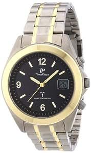 Time Piece Herren-Armbanduhr XL Funk Titan Analog Quarz TPGT-10234-21M