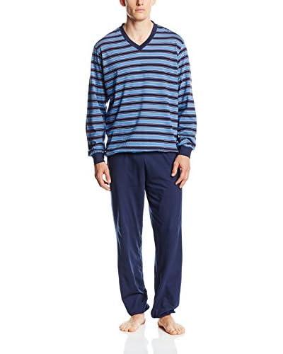 Seidensticker Pyjama himmelblau/blau