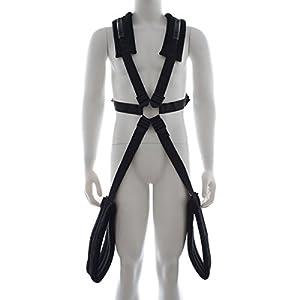 MSsmart(TM) BDSM Fetsih Under Bed Bondage Restraints,Sex Body Swing Harness with Handlebar Thigh Cuffs Adult Game Slave Positions Play Kit