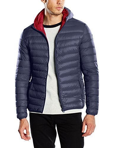 Schott NYC Silverado Extra Light Down Jacket, Giacca Uomo, Blu (Navy), Medium