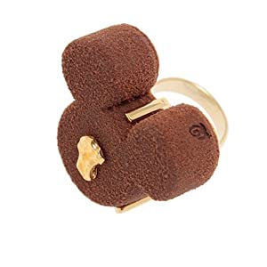 Q-pot. Mickey Mouse Luxe Chocolat Ring Fashion Jewelry New From Japan F/S