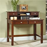 Home Styles Furniture Hanover Wood Student Writing Desk with Hutch in Cherr ....