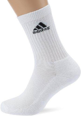 adidas Adicrew Half-Cushion Sock (3 Pairs) (US Kids 13-2.5, White) (Medias Fruit Of The Loom Black compare prices)