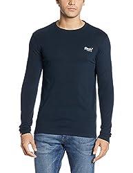 Superdry Men's Cotton Sweater (5054265888045_M60000NS1_M_Eclipse Navy)