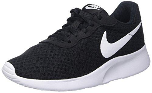 Nike Tanjun, Scarpe da Ginnastica Basse Donna, Nero (Black/White), 38.5 EU