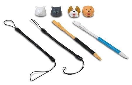 Nintendo 3DS/DSXL/DSi/DSL Dogs + Cats Universal Retractable Stylus Pack for - 6 Pieces