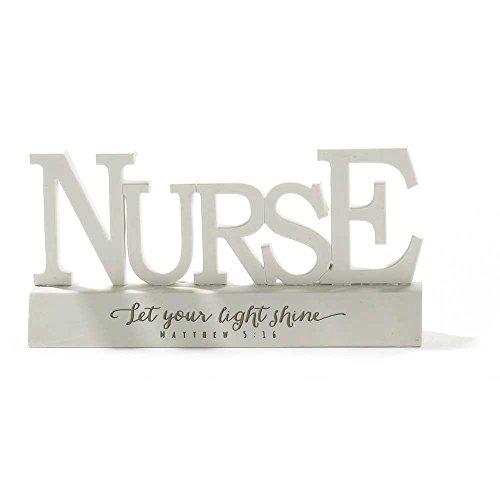 Word Figurine - Nurse with Let Your Light Shine Matthew 5:16