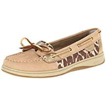 Sperry Top-Sider Women's Angelfish Shimmer Boat Shoe, Linen/Gold, 7.5 M US