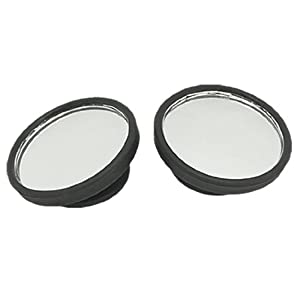 Car Side View Blind Spot Round Convex Mirrors 2 Pcs